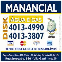 MANANCIAL ÁGUA E GÁS